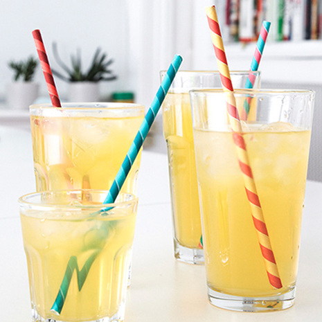 Kikkerland Striped Straws