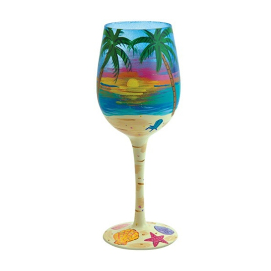 Tropical Wine Glass