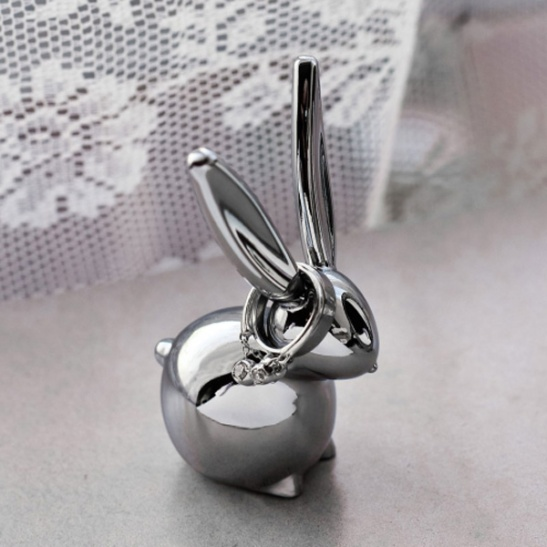 Umbra Bunny Chrome Ring Holder