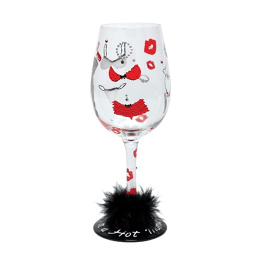 Hot Mama Lolita Wine Glass