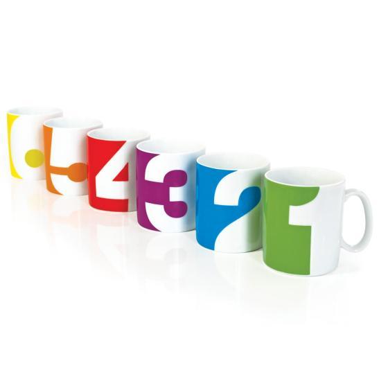 SUCK UK number mugs