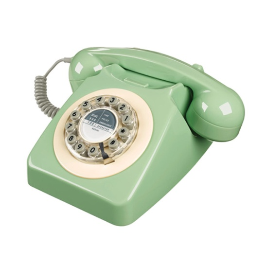 746 Petrol Retro Phone - Swedish Green