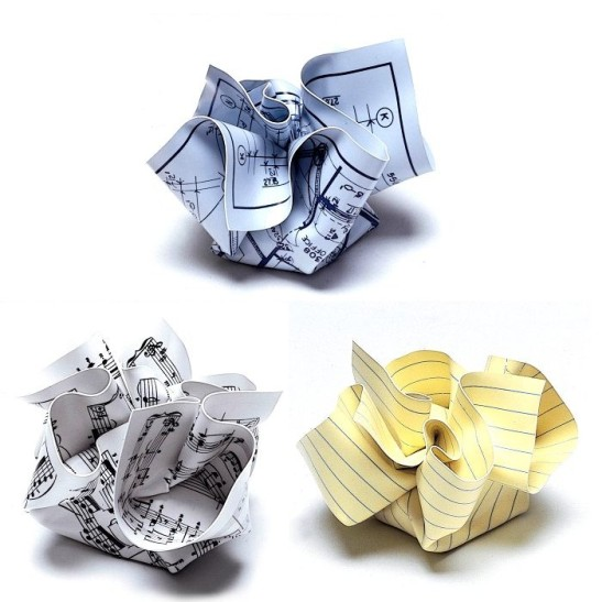 Crumpled Paperweights
