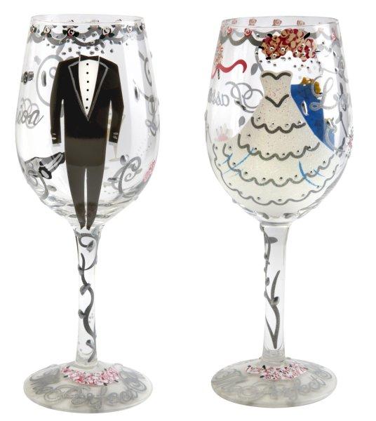 Lolita Bride & Groom Wine Glass Set
