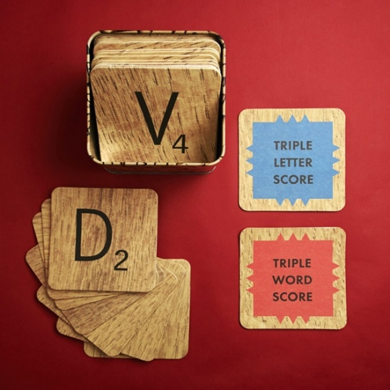 Wild Wolf Scrabble Coasters