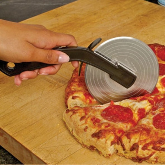 Fresh slice pizza cutter