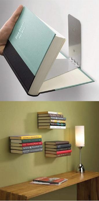 invisible book shelf