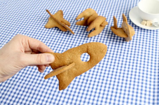 3D space rocket cookie cutter