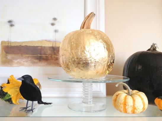 gold pumpkin