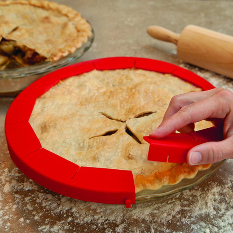 Thanksgiving Recipes - Adjustable Pie Shield