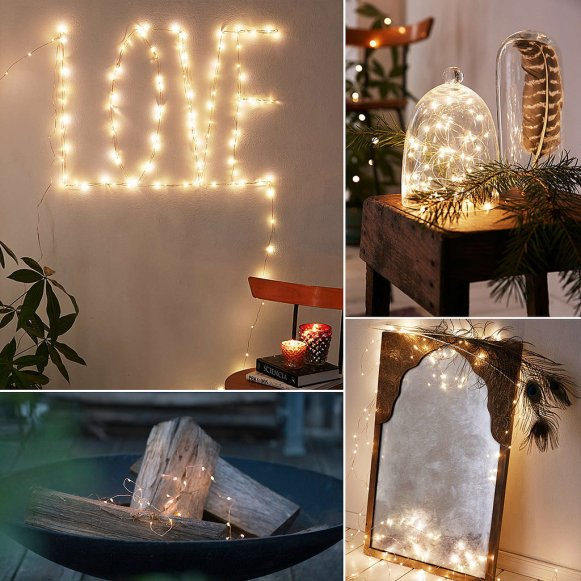 Copper Wire String Lights Decor Ideas