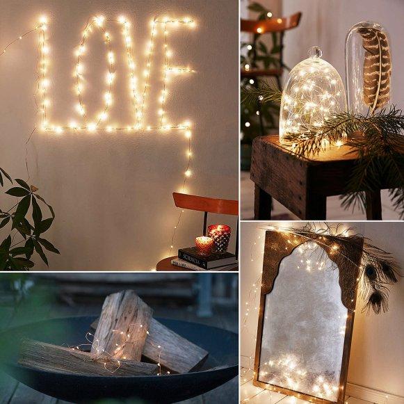 Copper Wire String Lights Decor Ideas