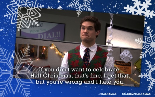 half christmas workaholics