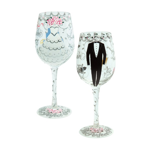Bride Groom Wine Glass Set