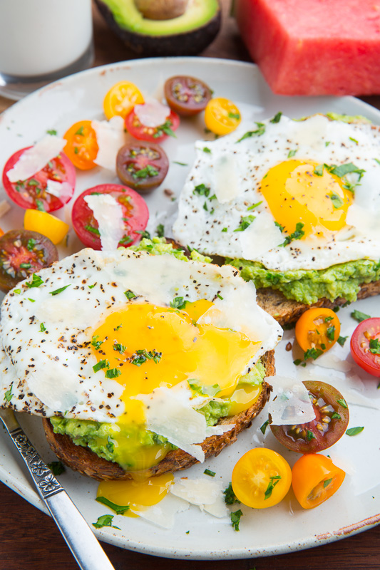 Fried Egg Avocado Toast recipe courtesy of Closet Cooking