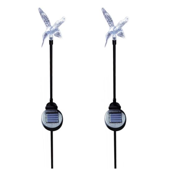 Solar Powered Hummingbird Color Changing Garden Stakes